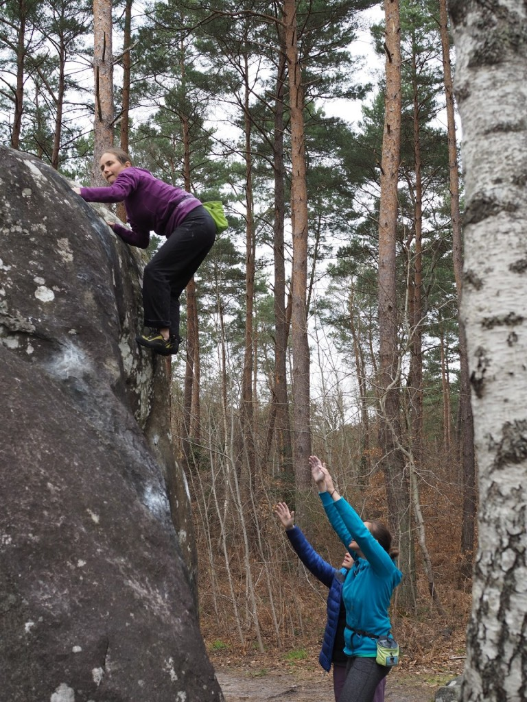 Climbing as Isatis with Becky and Becca :)