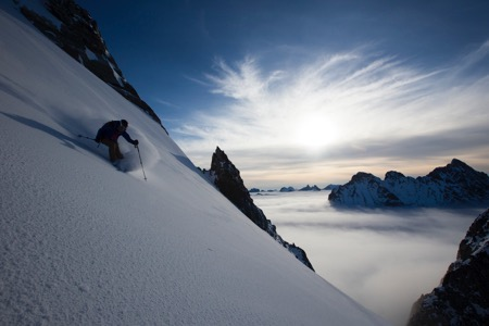 Skiing in East Greenland in 2014 on an expedition with The North Face Photo: Adam Clark
